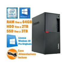 COMPUTER DESKTOP PC LENOVO THINKCENTRE M910T TOWER I7 6700 WINDOWS 10-
