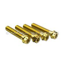 4x Gold Titanium Handlebar Clamp Screws Bolt M8x30 for KTM 990 Superduke 2005-10