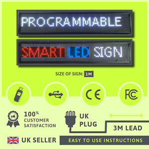 Progammable Indoor Led Smartsign Moving Message Advertising Display Sign 3 sizes