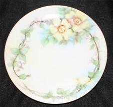 """Vintage THOMAS SEVRES Bavaria Germany Hand Painted YELLOW ROSES 7 5/8"""" Plate"""