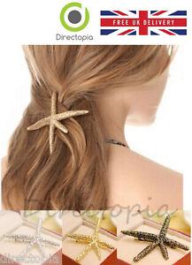 Fashion Crystal Starfish Hair Clip Statement Piece Wedding Bridesmaid Holiday