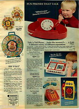 1976 PAPER AD Toy Phone Disney Winnie Pooh Guitar Jack Box Musical TV Mickey