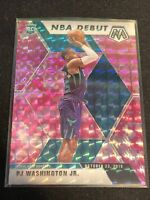 2019-20 Panini Mosaic PJ Washington Jr. Pink Camo NBA Debut Rookie Card #278 RC