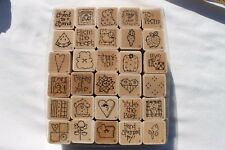 30 One Inch D.O.T.S. Stamp Theme Hearts Crafts Stamping & Embossing Stamps