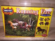 RUNNING FREE BREYER JIGSAW PUZZLE WITH 1 STABLEMATES HORSE FIGURE