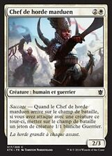 MTG Magic KTK FOIL - Mardu Hordechief/Chef de horde marduen, French/VF