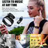 Smart Bracelet Bluetooth Headset 2 in 1 Heart Rate Monitor Bracelet Wristband#