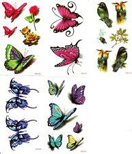 lot de 5 petites planches de tatouages temporaires lot 36