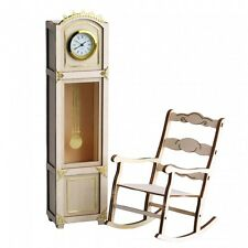 Art & Wood - Grandfather Clock/Rocking Chair - 3D Wooden Puzzles/Working Models
