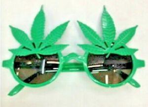 Marijuana Pot Leaf Weed Bud Ganja Novelty Glasses Party
