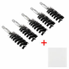 5 X Nylon Bristle Bore Cleaning Short Brush .45 cal 8x32 Thread with 50 Patches