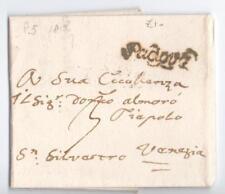 Prefilatelica prephilatelic 1813 da Padova per Venezia