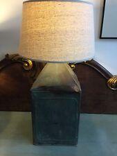 Lampada realizzata con Vintage Francese Benzina/Cherosene può-Unique