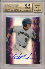 AUSTIN MEADOWS 2014 BOWMAN STERLING MAGENTA REFRACTOR AUTOGRAPH #/99 9.5 10 AUTO