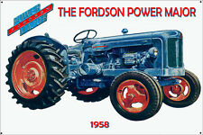 Fordson Power Major 1958 Tractor  Enamel Painted Metal Sign