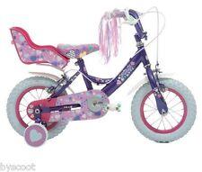"""Vélo enfant KRUSH 12"""" pouces rose mauve fille fillette siège poupée bike girl"""