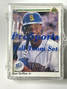1990 Upper Deck Baseball Cards Complete Seattle Mariners Griffey Factory Sealed