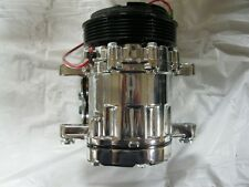 NEW CHROME MINI SD7 SERPENTINE AIR CONDITIONING AC COMPRESSOR