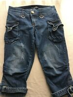 Baby Phat Women's Pants Capri Cropped Size 5 Blue Denim