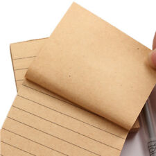 1x New Kraft Paper Memo Pads Office School Supplies Planner Sticker Sticky Notes