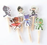 PJ MASKS CUPCAKE TOPPERS PICKS BIRTHDAY PARTY SUPPLIES FAVOURS