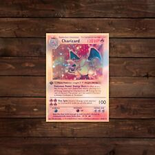 Holographic Charizard Trading Card (Pokemon) Decal/Sticker