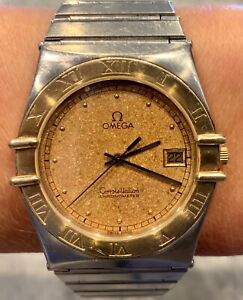 OMEGA CONSTELLATION CHRONOMETER MENS TWO TONE STAINLESS STEEL WATCH
