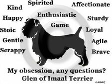 Glen of Imaal Terrier Dog Obsession? T-shirt Sale size Large Grey only one