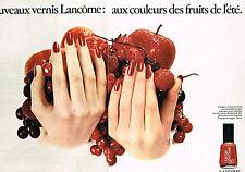 PUBLICITE ADVERTISING 064  1976  LANCOME  cosmétiques les nouveaux vernis ( 2 pa