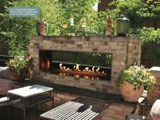 "Carol Rose Outdoor SS See-through 48"" Linear Fireplace - NG"