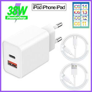 38W Schnellladegerät Netzteil Lightning Ladekabel iPhone 13/12/11/XR/XS/X/8/7/SE