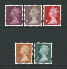 Football Decimal Used Great Britain Elizabeth II Stamps