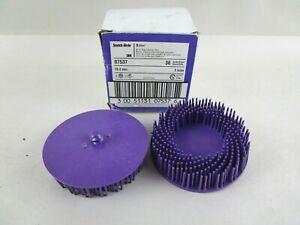 3M 07537 Scotch-Brite Roloc Purple Bristle Disc, 3 inch, 36 grit, 2 Disc