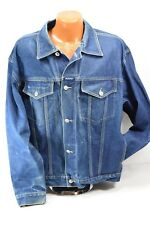 Vintage Karl Kani Denim Button Down Blue Jean Jacket Size XL  KANI JEANS