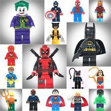 16 ps Set Super Hero Marvel Batman Deadpool Joker fit Lego Mini figure