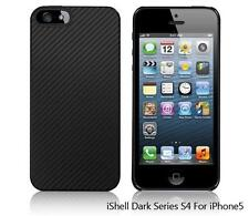 iShell Dark Carbon S4 Snap-On Case + Screen Protector for iPhone 5
