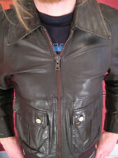 LEE VINTAGE 70s MENS LEATHER NAPPA JACKET 38 MEDIUM