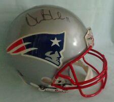 NFL Patriots Drew Bledsoe Signed Full Size Football Helmet Riddell 1980's or 90