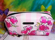 NEW VICTORIA'S SECRET FLORAL BEAUTY BAG ROSE MAKEUP CASE PENCIL COSMETIC BAG
