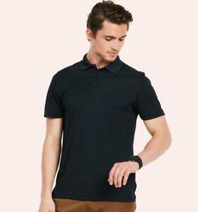 UC127 Uneek Mens Super Cool Workwear Poloshirt - Black - XXL