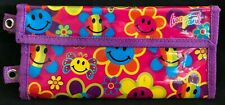 Vintage Lisa Frank Smiley Rainbow Flowers Wallet Pencil Pouch Case Accessory HTF