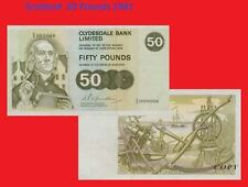 Scotland 50 Pounds 1981. UNC - Reproductions