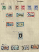 Bahamas stamps From 1942 on stamp album page inc mint unused set