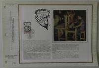 Feuillet CEF 1er jour n°466 Soie 1978 Métiers d'Art