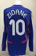 La France Home Football Shirt jersey Zidane 10 à Manches Longues LS XL coupe du monde 2006/07