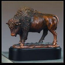 "Buffalo Stanging 7"" x 7""  Beautiful Bronze Statue / Sculpture Brand New"