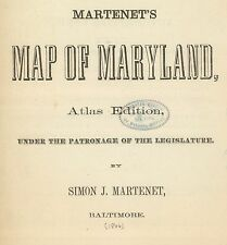 Maryland State Atlas map 1866 old Genealogy Ghost Towns Treasure Hunting Dvd S17