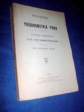 GIOVANNI LAURI Nuovo trattato di trigonometria piana e studio analitico 1914