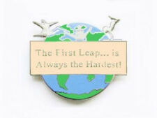 The First Leap Is The Hardest Gymnastics Lapel Pin - New Design!