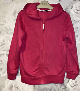 Girls Age 8-9 Years - Pink Hooded Zip Up Top